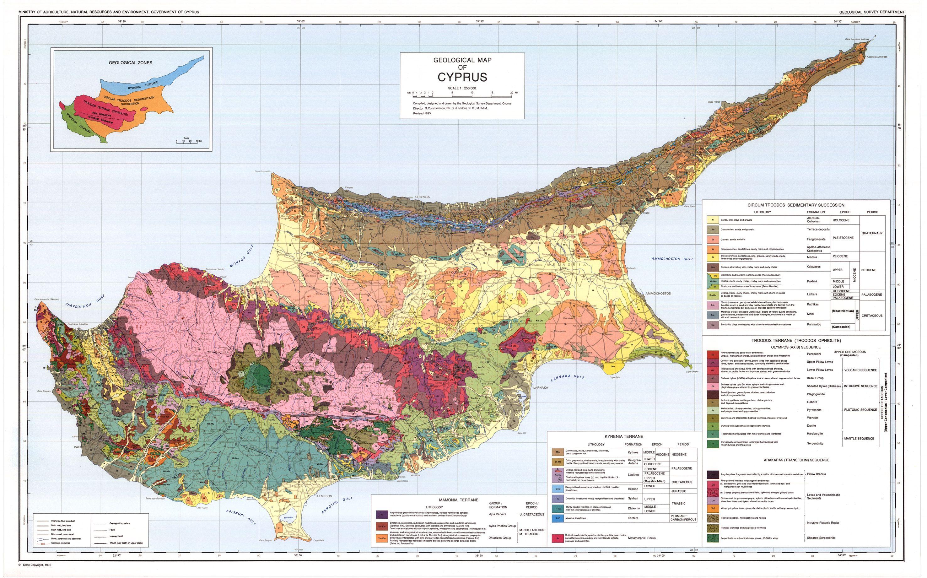 Geologicalmapofcyprus