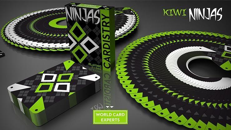 Cardistry kiwi ninjas cardistry cards playing cards design