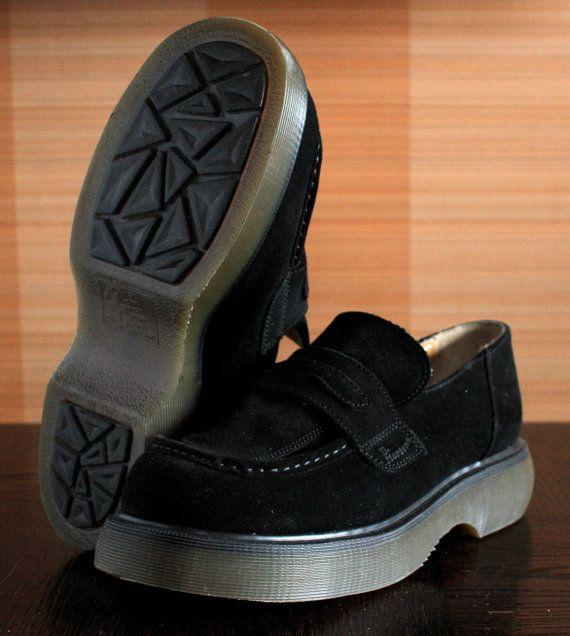 dr martens platform loafers