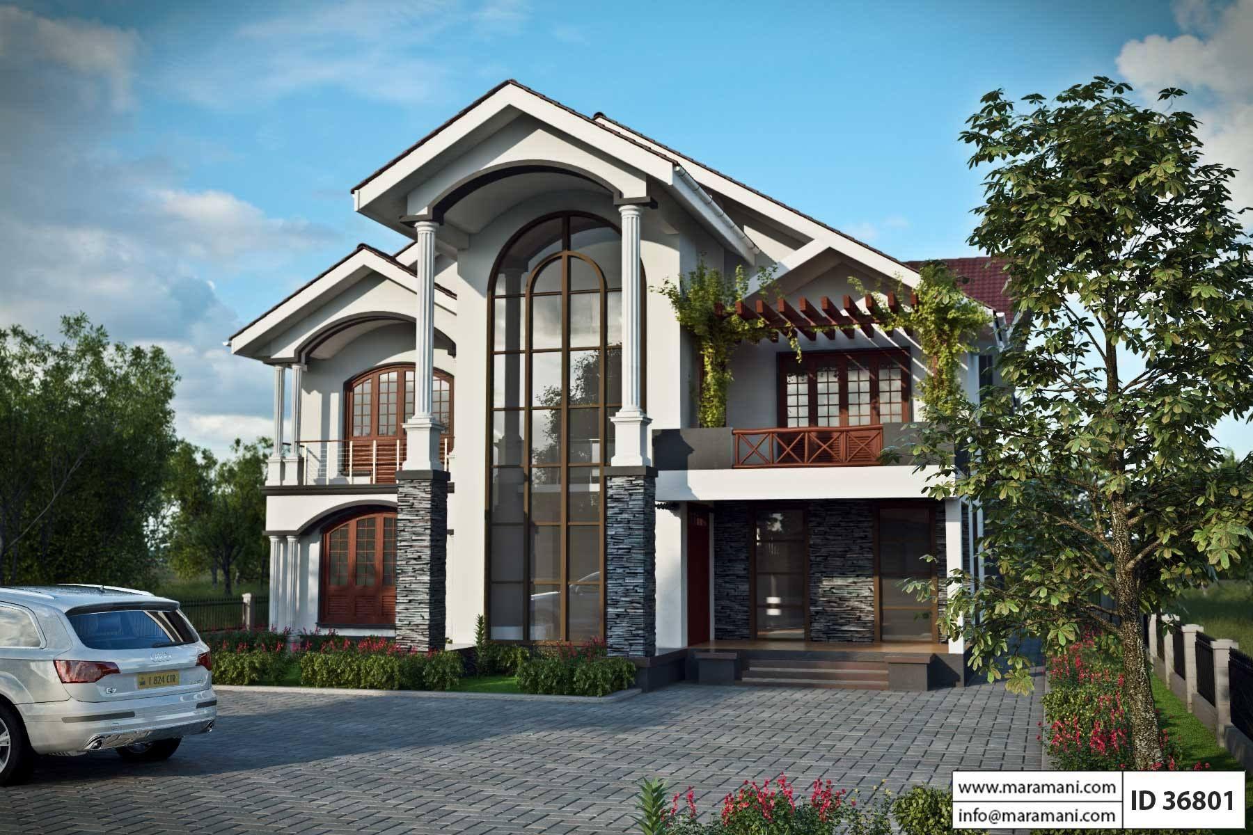 6 Bedroom House Design Id 36801 Bedroom House Plans House Plans Contemporary House Plans