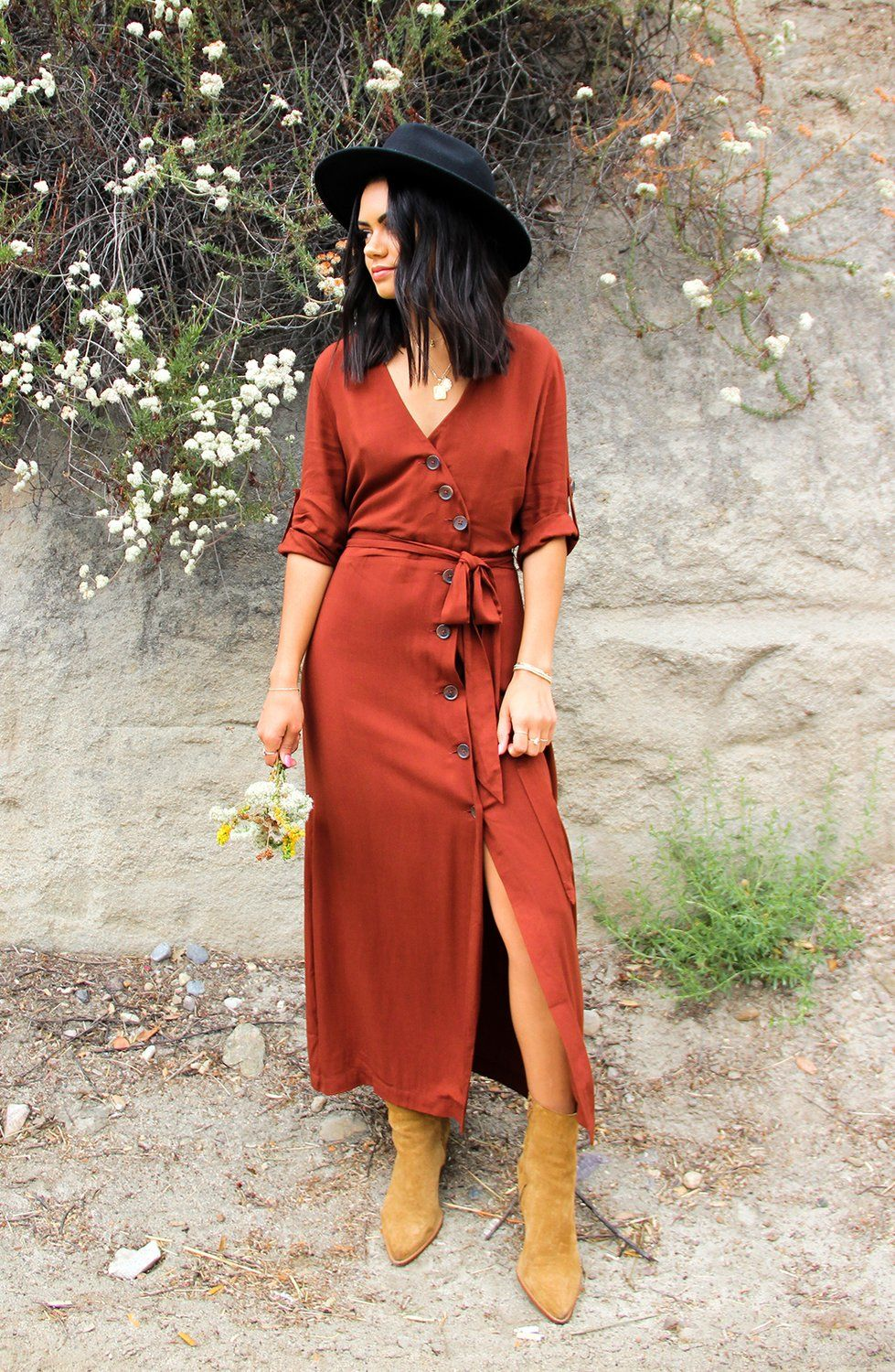 Button Up Your Story Midi Dress Midi Dress New Arrival Dress Fall Outfits [ 1500 x 979 Pixel ]