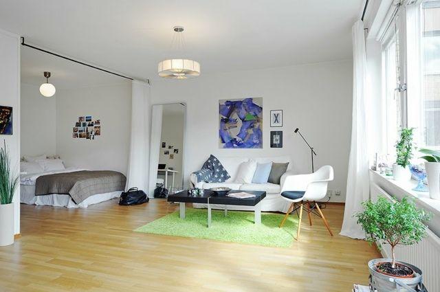 Gut Moderne Wohnungseinrichtung Ideen   Schlafzimmmer Durch Vorhänge Abgetrennt  | Living Nice | Pinterest | Wohnungseinrichtung Ideen, Wohnungseinrichtung  Und ...