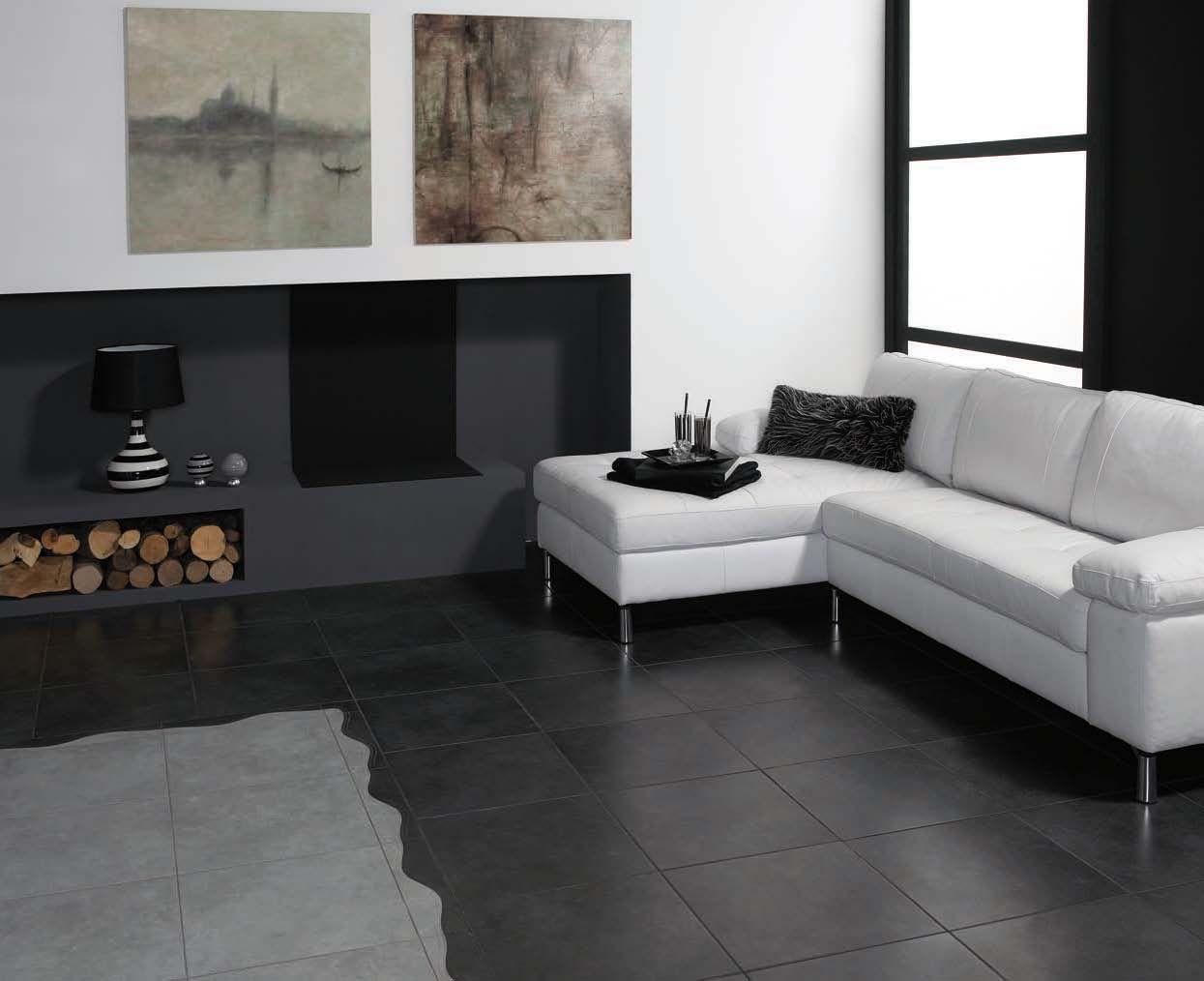 Dalle Noire En Carrelage Pour Un Interieur Design Et Chic Sol