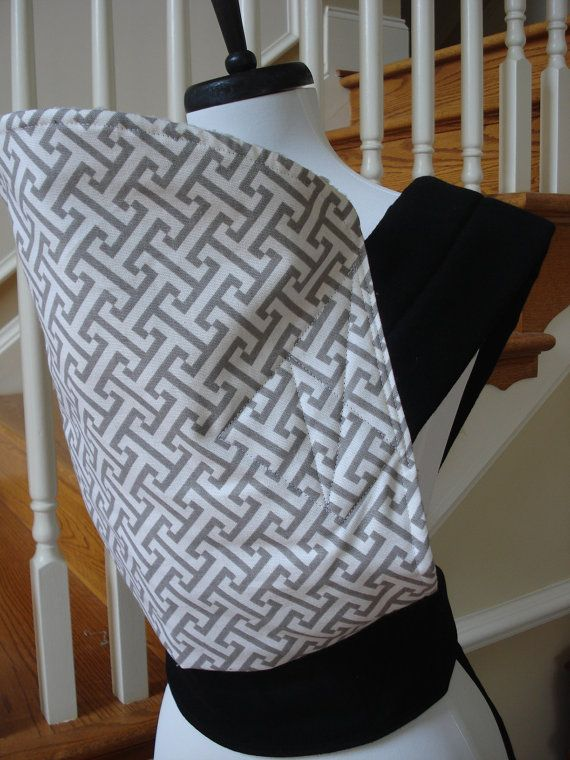 Mei Tai Baby Carrier Waverly gray minky by AnnaCarrieBaby on Etsy