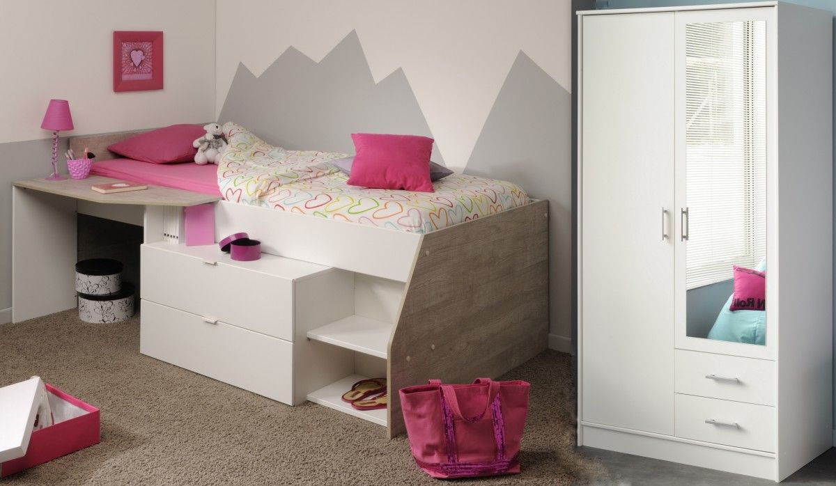 Etagenbett Bibop : Schlafzimmer 2 tlg. inkl 90x200 hochbett u kleiderschrank trg