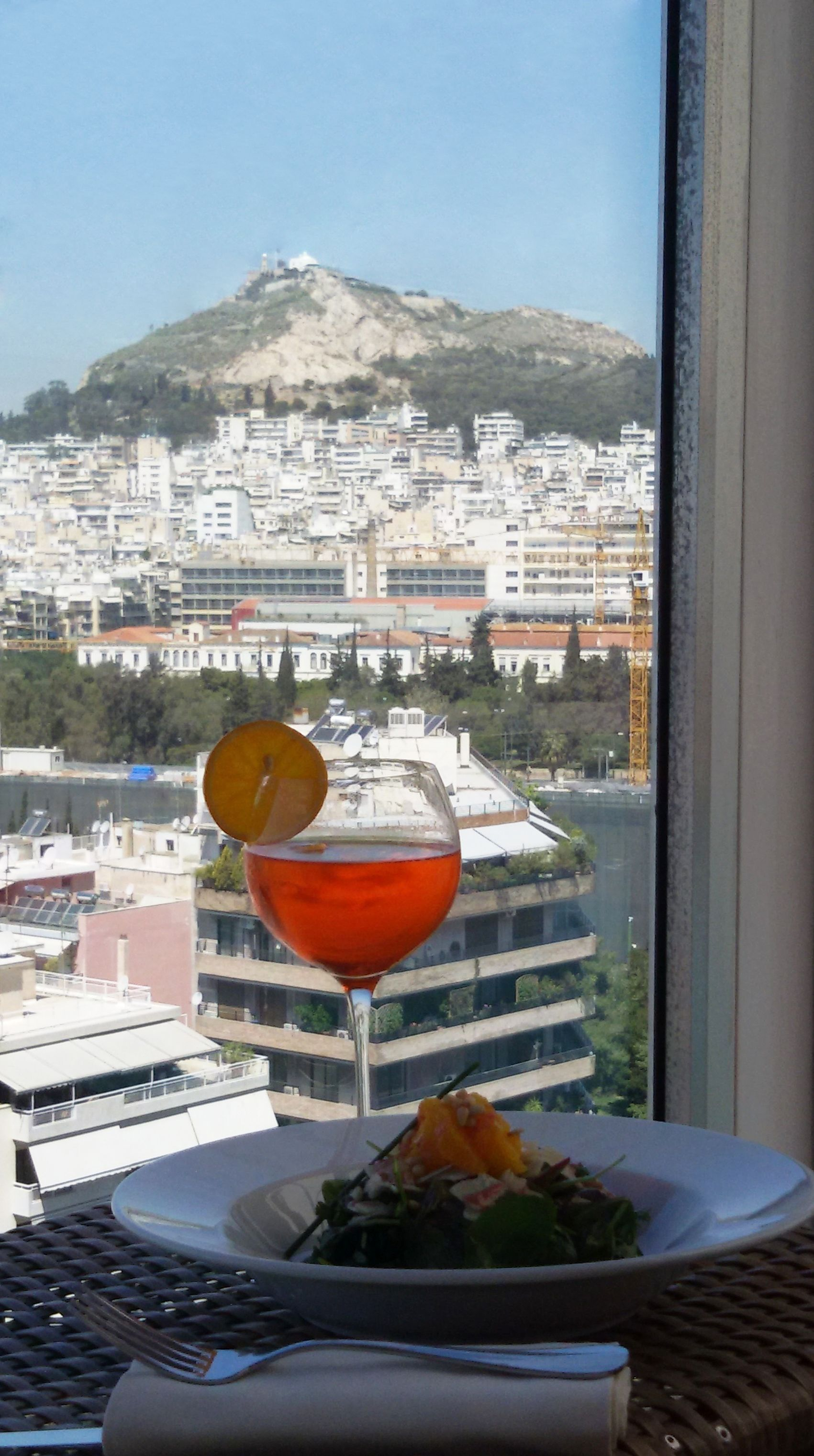 Enjoying Our Lunch At Divani Caravel Hotel With This Gorgeous View Of Summertime Athens Gorgeous View Hotel Leading Hotels