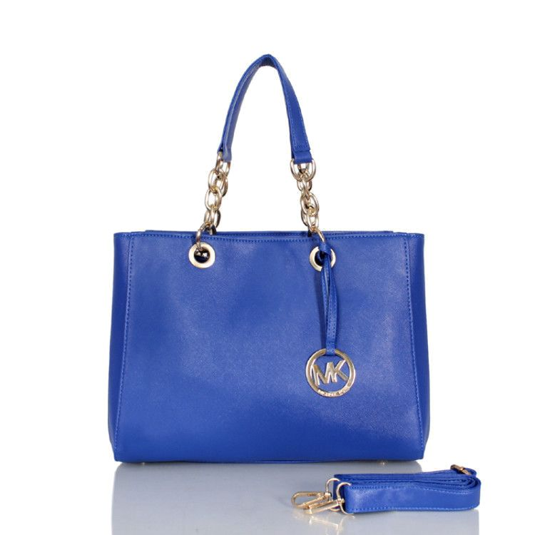 d2da0d62fb4de Michael Kors Cynthia Saffiano Large Blue Satchels Outlet