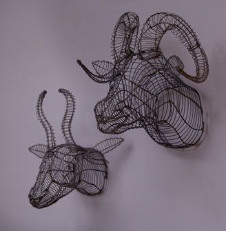 Wire Animal Heads    Handmade in South Africa