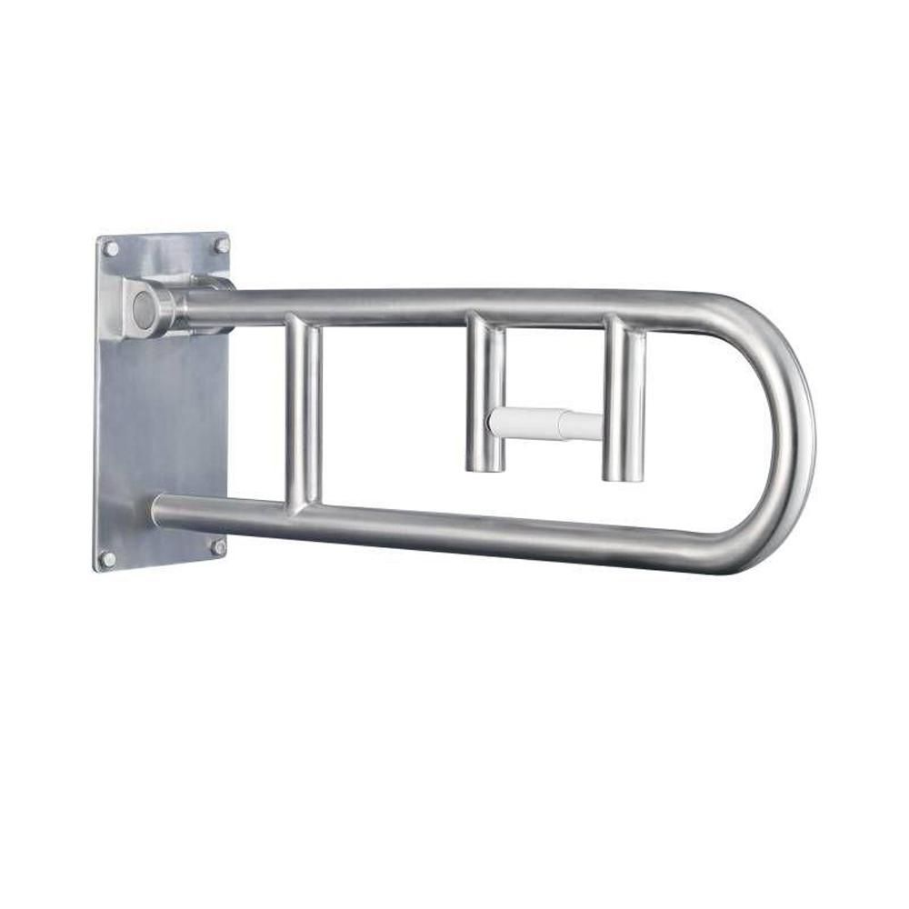 Photo of MOEN 30 inches x 1-1 / 4 inches. Hinged handle with paper holder made of blasted stainless steel-R8962FD – The Home Depot