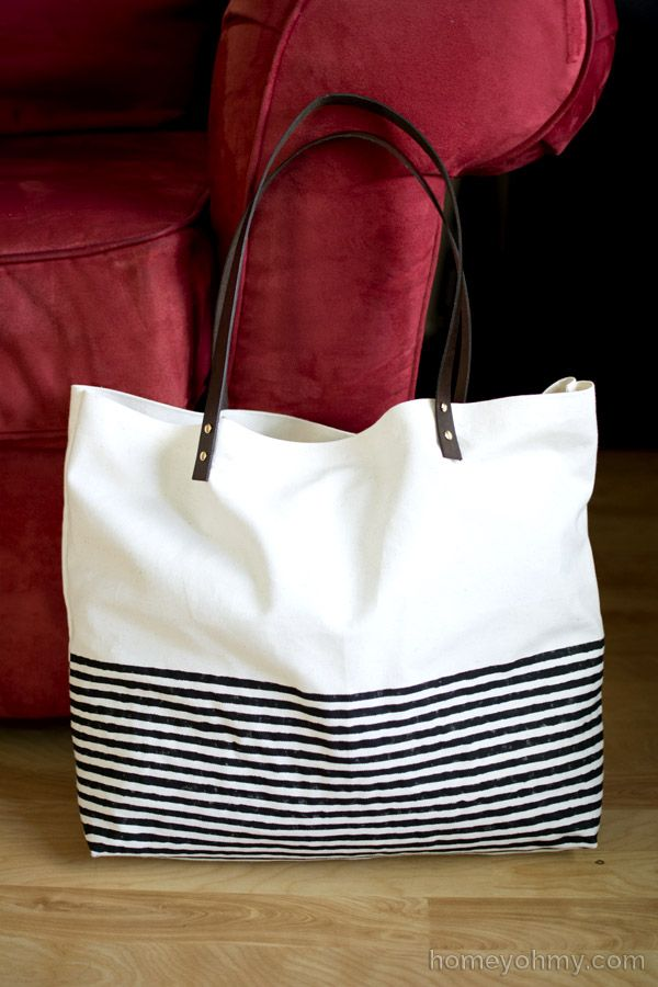 DIY No-Sew Tote Bag by Homey Oh My | Sew tote bags, Canvases and ...