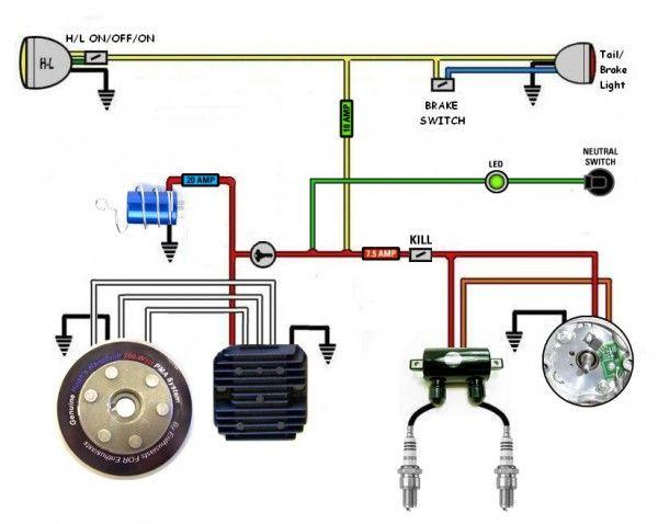 Kickstart Only Wiring Diagram Motorcycle Wiring Suzuki Cafe Racer Cafe Racer