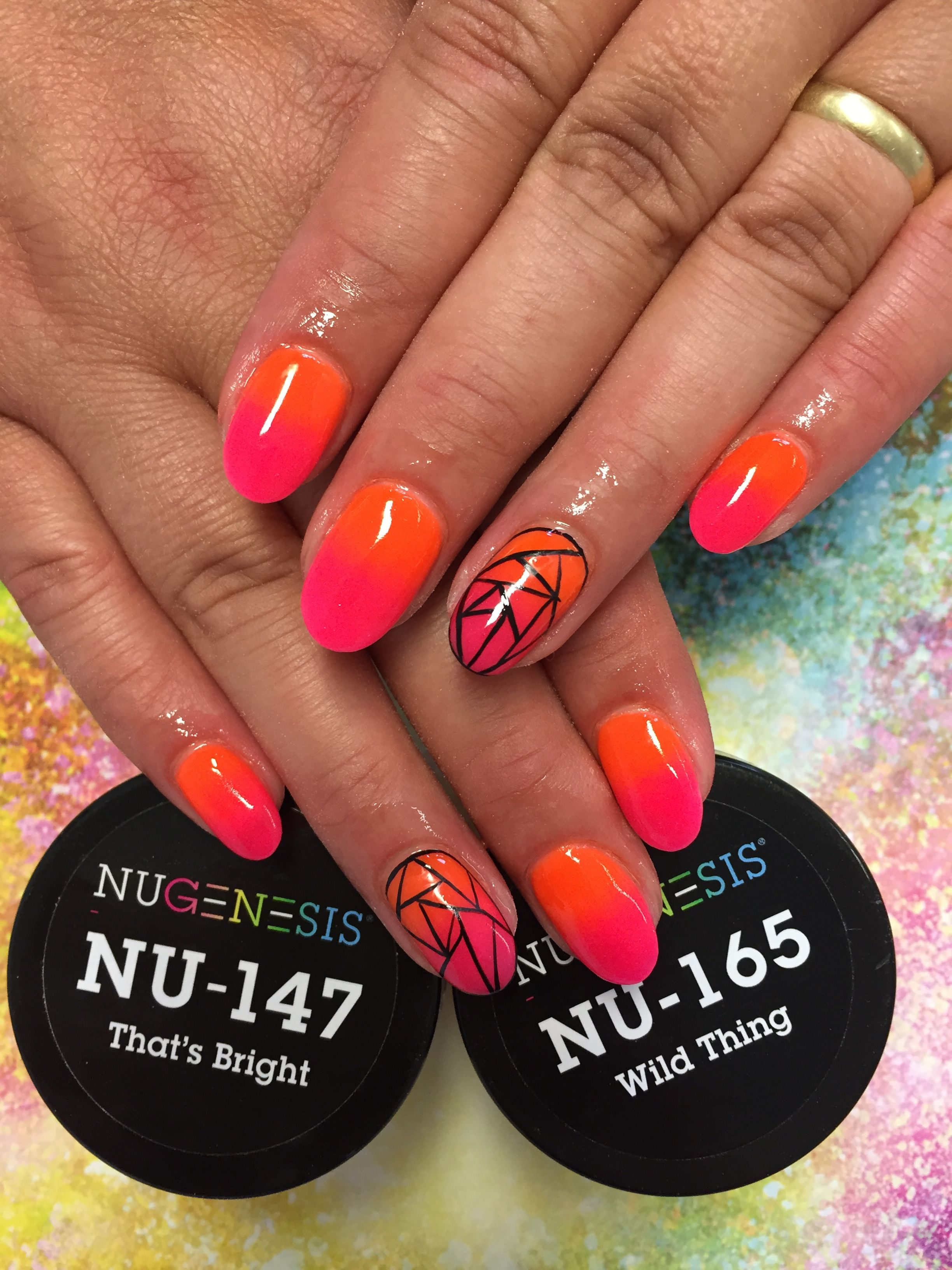 Ombre Summernails With Nugenesis Dipping Powder Dip Powder Nails Fall Toe Nails Fake Nails