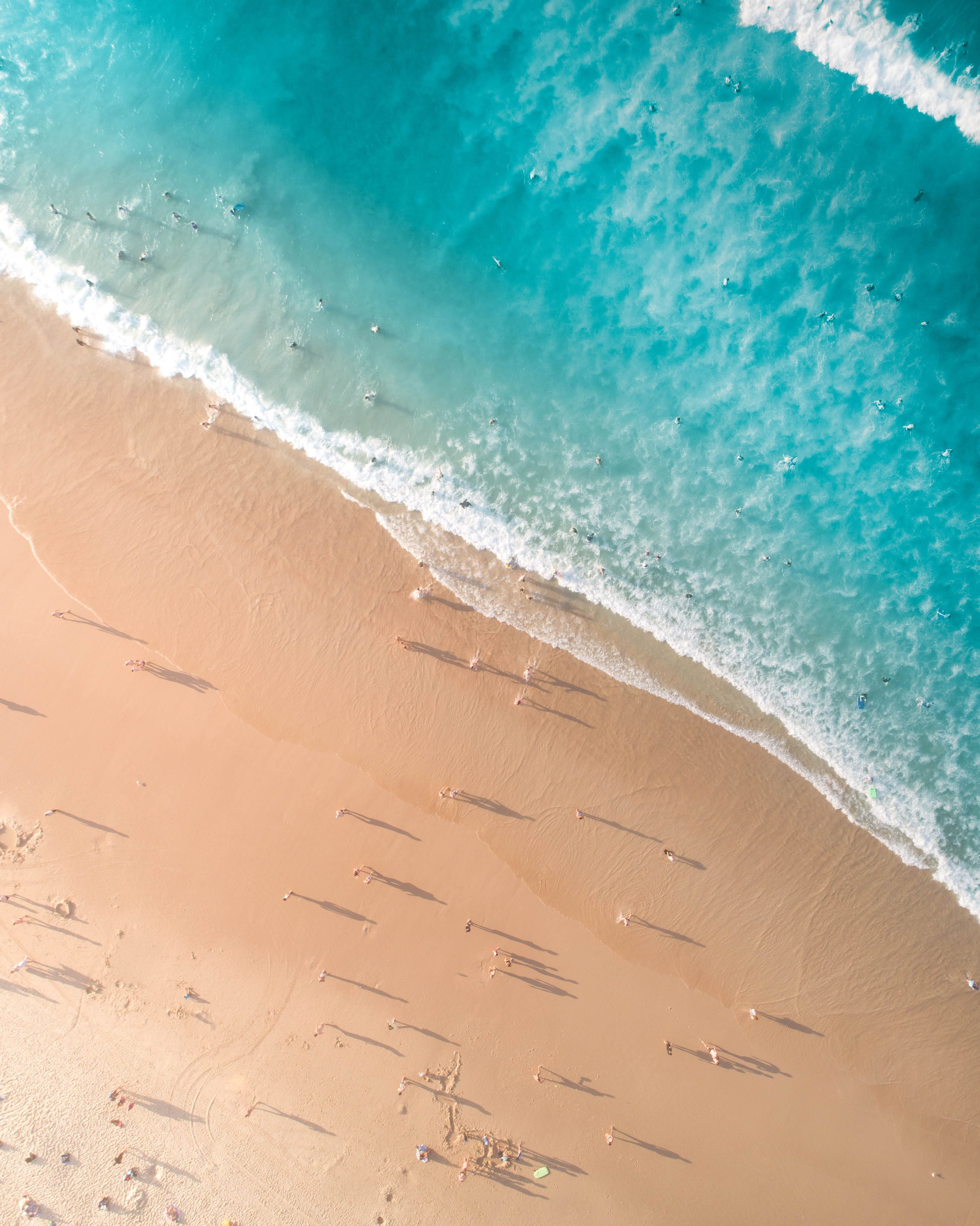 Aerial Photo Of Sea Aerial Photography Aerial Shot Beach Bird S Eye View Bondi Bondi Beach Daylight Drone Foot Landscape Wallpaper Beach Photos Hd Landscape