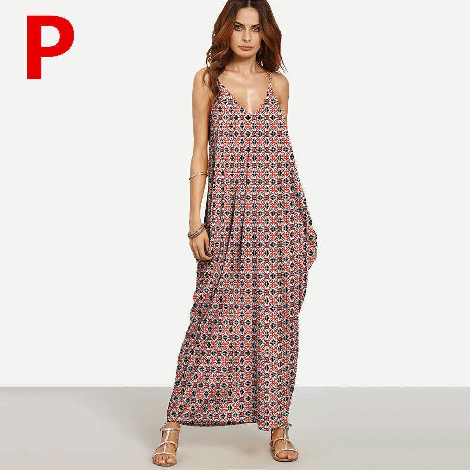 Weljuber long maxi dress women boho vestidos summer strap dress