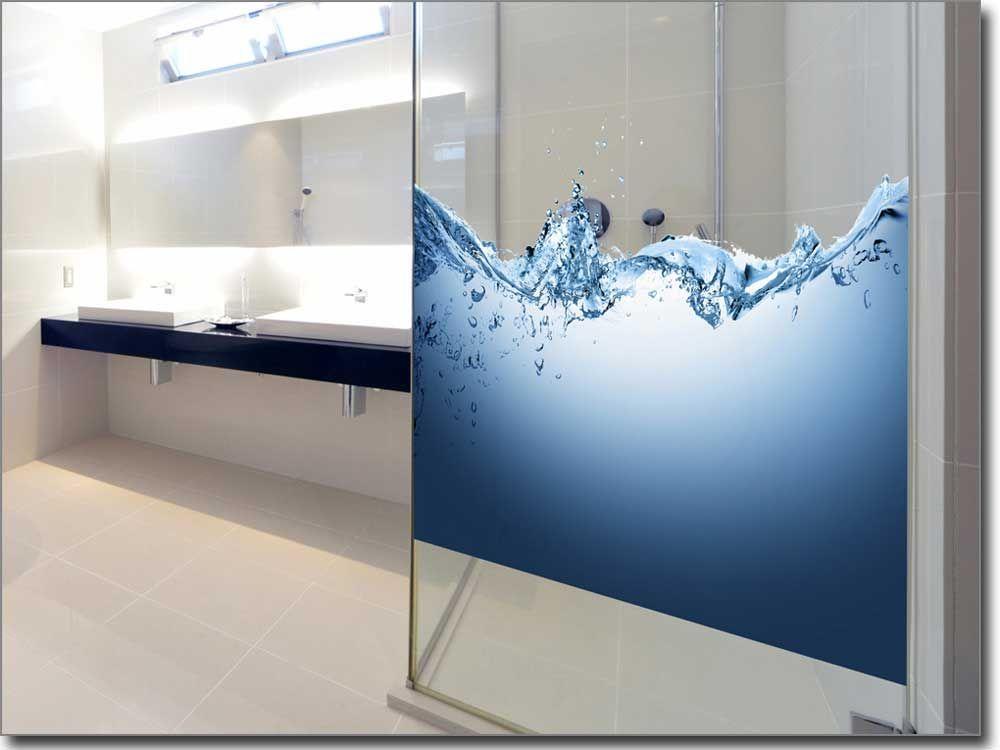Glasbild mit blauen Rosen als Sichtschutz fürs Fenster Fotofolien