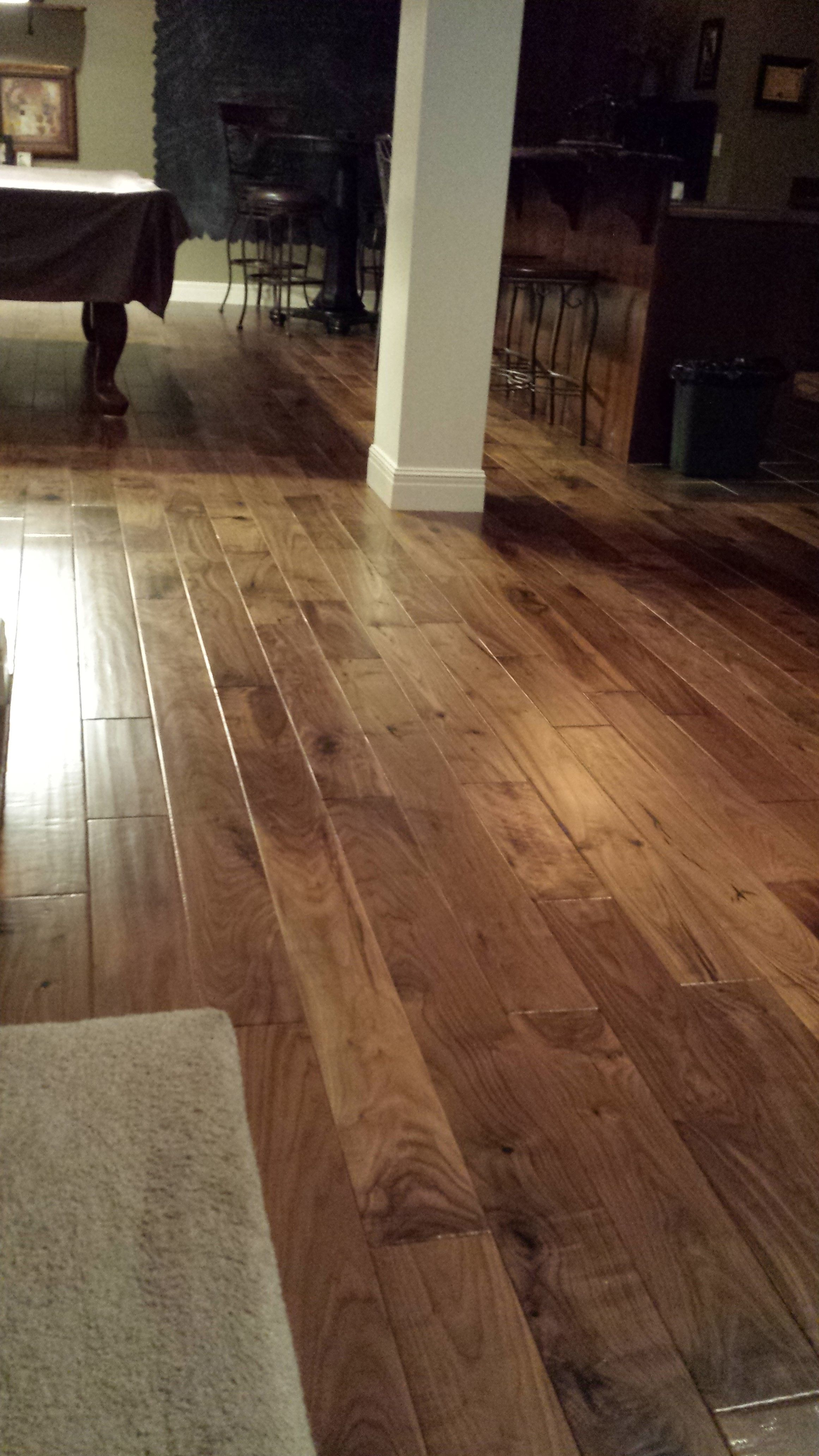 Natural Walnut Floors Installation In Kansas Home Flooring Refinishing Hardwood Floors Walnut Floors