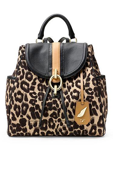 Sutra Leopard Jacquard Backpack In Leopard/ Sandalwood