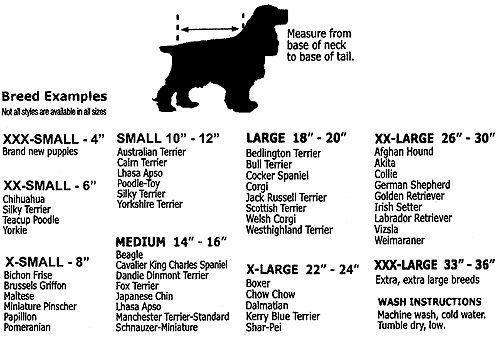 Size Chart For Pet Crochet Poodle Mix Breeds Pets Corgi German Shepherd