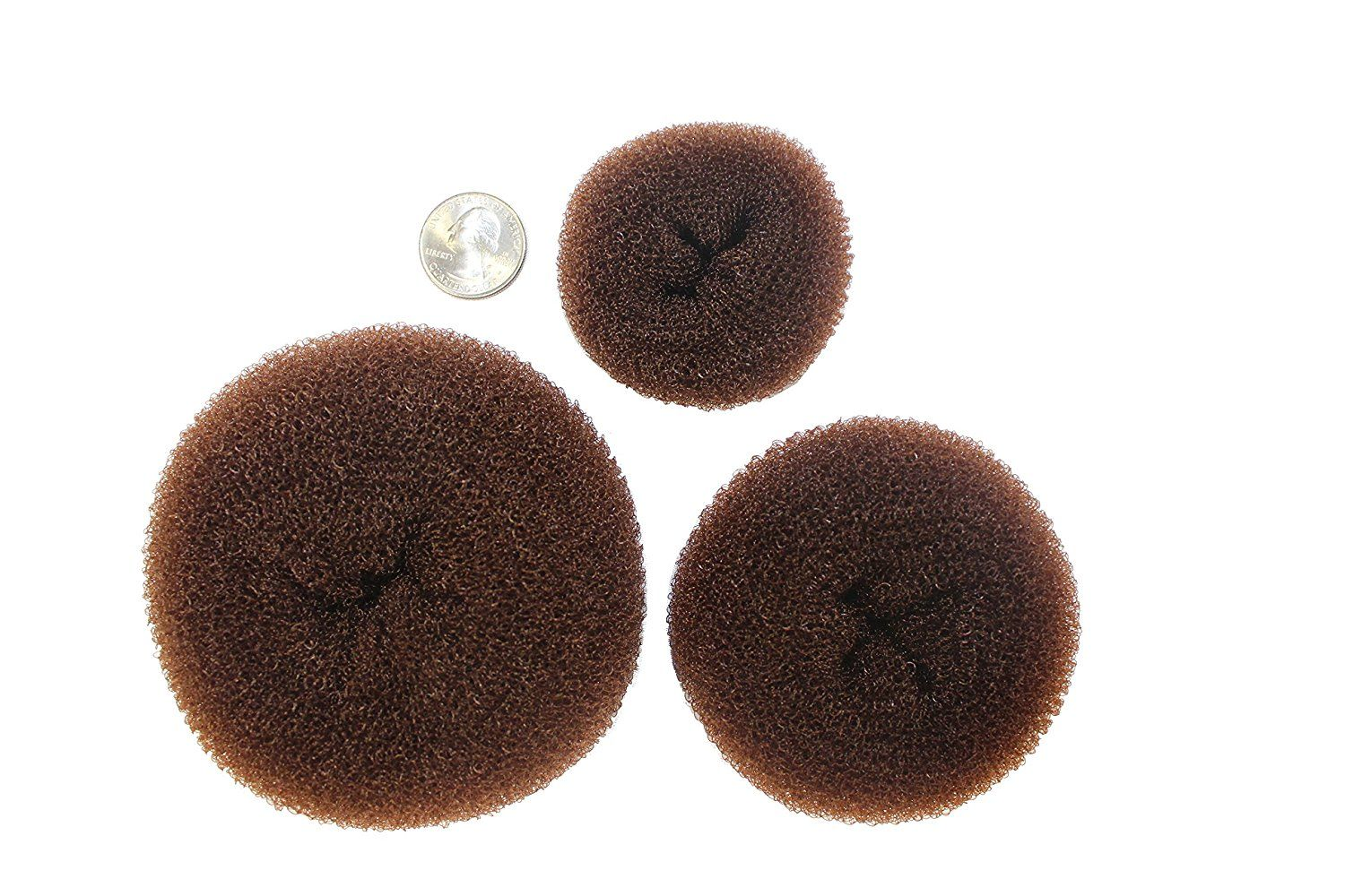 Donut Bun Maker - 3 Piece Set of Beautiful Hair Bun Makers - Great for Both Long and Short Hair (1 Small, 1 Medium, 1 Large) (Brown / Brunette) By Styla Hair… * New and awesome product awaits you, Read it now  : Hair Accessories