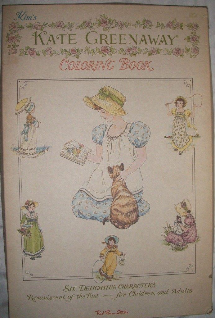 Vintage and Rare Kim\'s Kate Greenaway Coloring Book circa 1950 ...