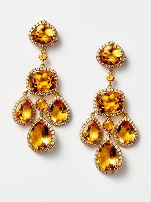 Citrine diamond chandelier earringsy 5339 style citrine diamond chandelier earrings by vendoro on gilt mozeypictures Gallery