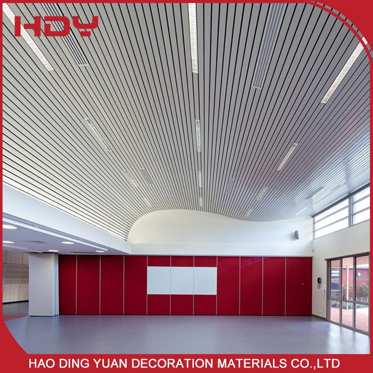 Acoustic Design And Mould Proof Aluminum Baffle Ceiling Baffle Ceiling Ceiling Design Acoustic Design