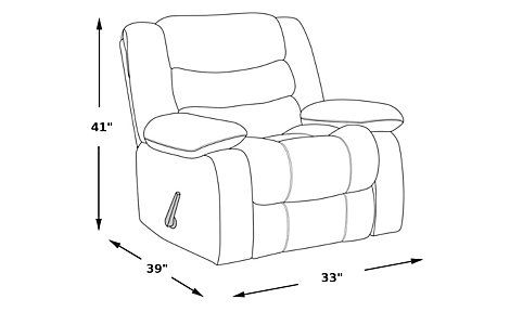 picture of Congress Street Brown Rocker Recliner from  Furniture