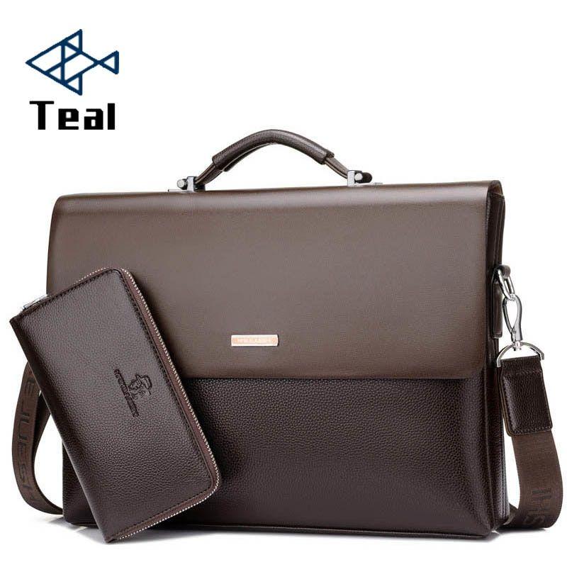 2018 Brand Business Men Briefcase Bag pu Leather Black Luxury Designer  Laptop Bag Office Large Capacity Briefcase - Women Men Bag Women Men Bag 9c79b0f292be8