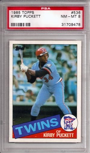 Kirby Puckett Rookie Card Personal Effects Minnesota