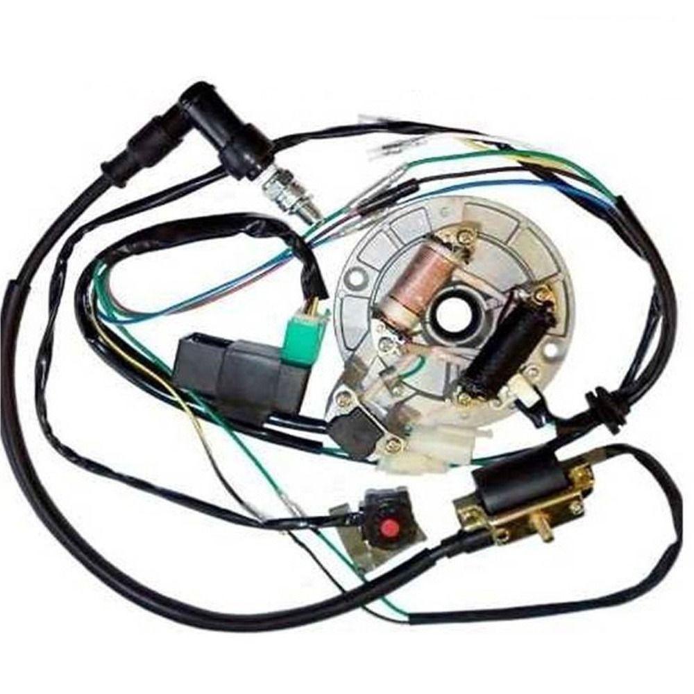 Tdr Moto Engines 50 125cc Kick Start Dirt Pit Bike Wire Harness Wiring Loom Cdi Coil Magneto Atv 50cc Pit Bike