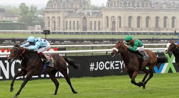 Jean-Claude Rouget saddled two horses in Sunday's Group I Prix du Jockey-Club (2100m) at Chantilly including the favourite but it was the outsider of the pair which landed the spoils.