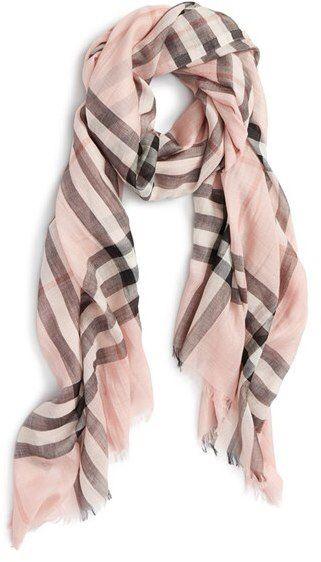 Women's Burberry Giant Check Print Wool & Silk Scarf | Winter Wear ...