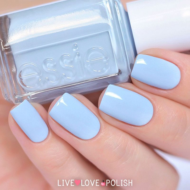 Light Blue Acrylic Nails Summer