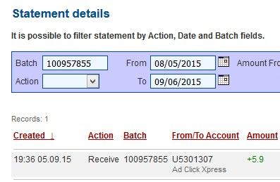 Get out of debt by doing something fun for a change! AdClickXpress is the top choice for passive income seekers. Making my daily earnings is fun, and makes it a very profitable! I am getting paid daily at ACX and here is proof of my latest withdrawal.  This is not a scam and I love making money online with Ad Click Xpress.... Prikaži više http://www.adclickxpress.com/?r=m5e777tq32ar&p=aa AdClickXpress.Official