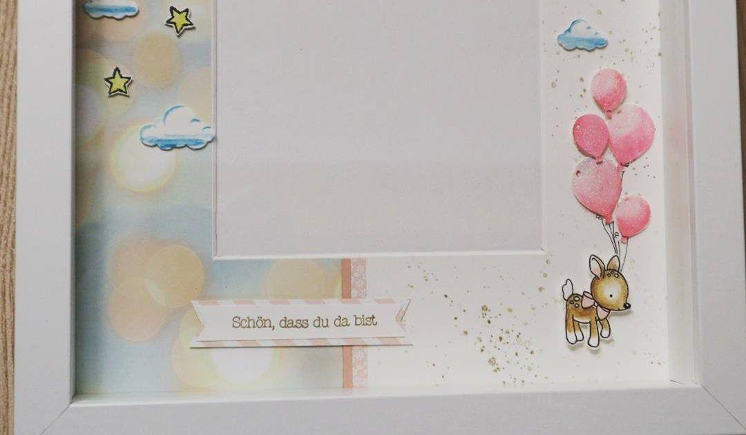 Noch ein Ribba-Rahmen... Gewünscht war ein Geschenk für ein Mädchen #stampinup #babygirl #baby #ribbarahmen #ribba http://ift.tt/2oeHwMk