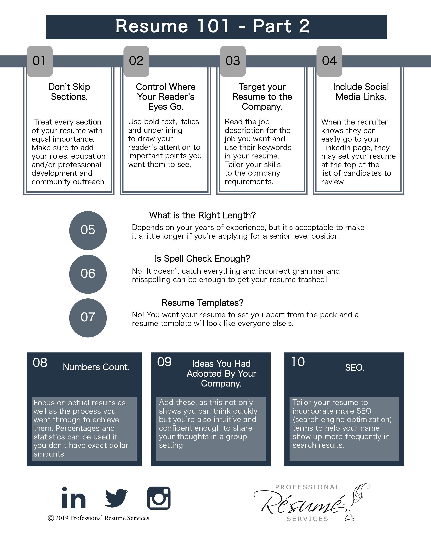 Resume 101 Part 2 Infographics Flat Lanieplantrich Resume Services Infographic Resume