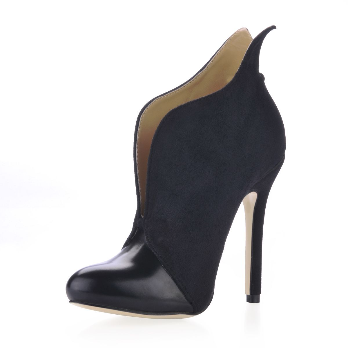 Dresswe.com SUPPLIES Butterfly Design Upper Stiletto Heels Closed-toe Women's Boots  Ankle Boots (4)