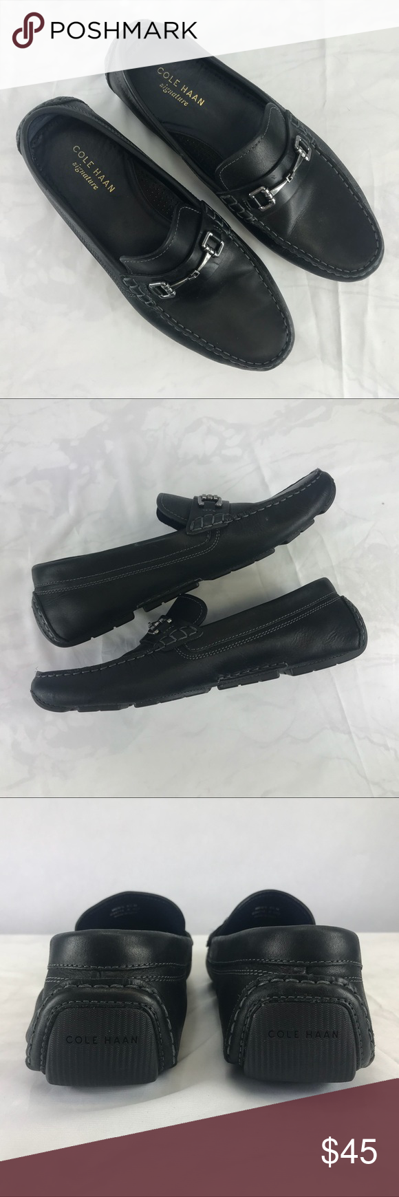54cb8f8d4dc Cole Haan Kelson Bit Driver Driving Moccasins Cole Haan Black Kelson Bit  Driver Leather Driving Moccasins Mens Sz 9.5 C24714 Nice pre-owned  condition