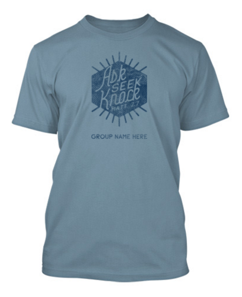 T shirt design youth - Ask Seek Knock Church Youth Group T Shirt Design
