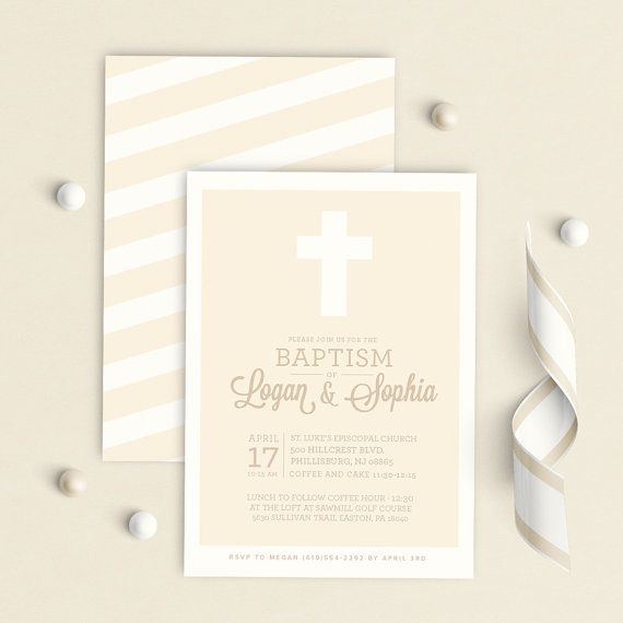 Twins Baptism Invitation, siblings baptism invitation, Twins - sample baptismal invitation for twins