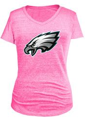 cheap for discount 16484 05cca Philadelphia Eagles Womens Pink Tri-Blend Neon T-Shirt | NFL ...