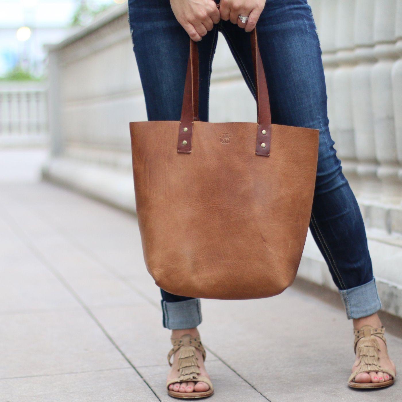 Tote Fine Leather Handbag Purse Bag
