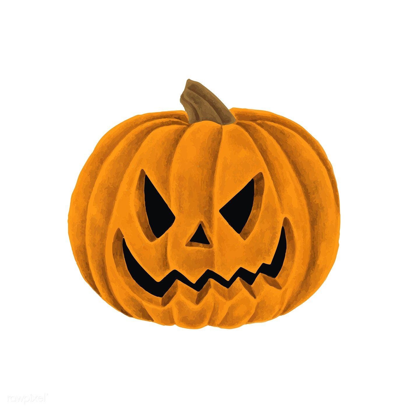 Hand drawn Halloween pumpkin jacko'lantern free image
