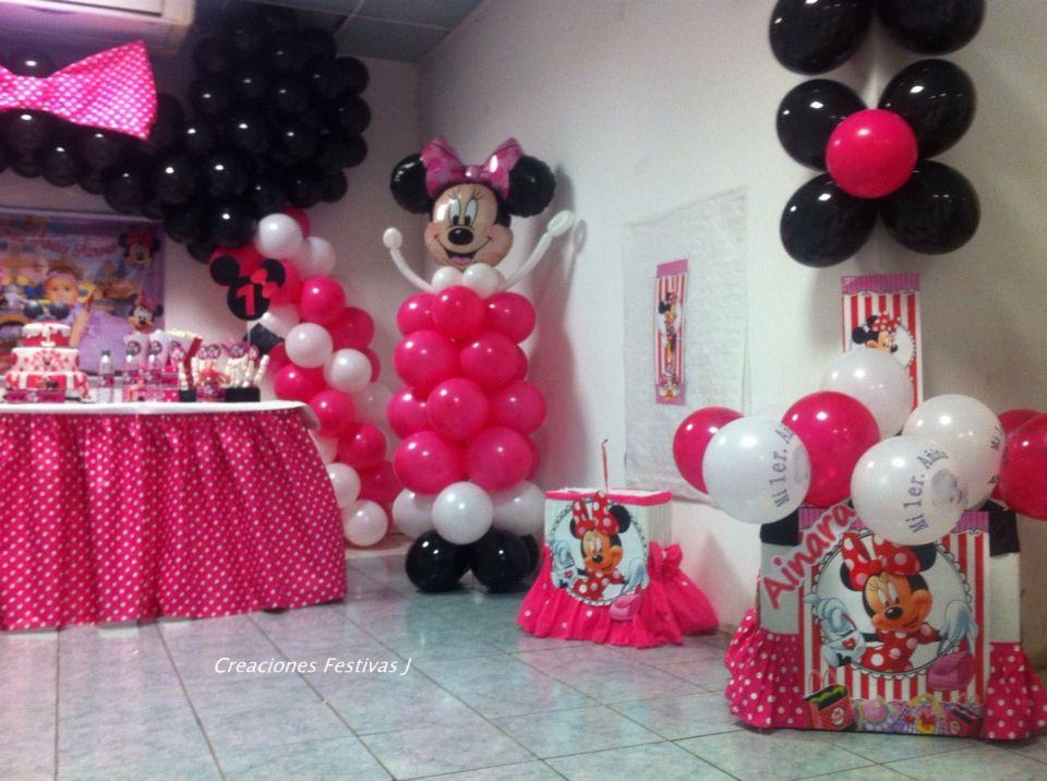 Caja Para Regalos Minnie Mouse Decoración Con Globos