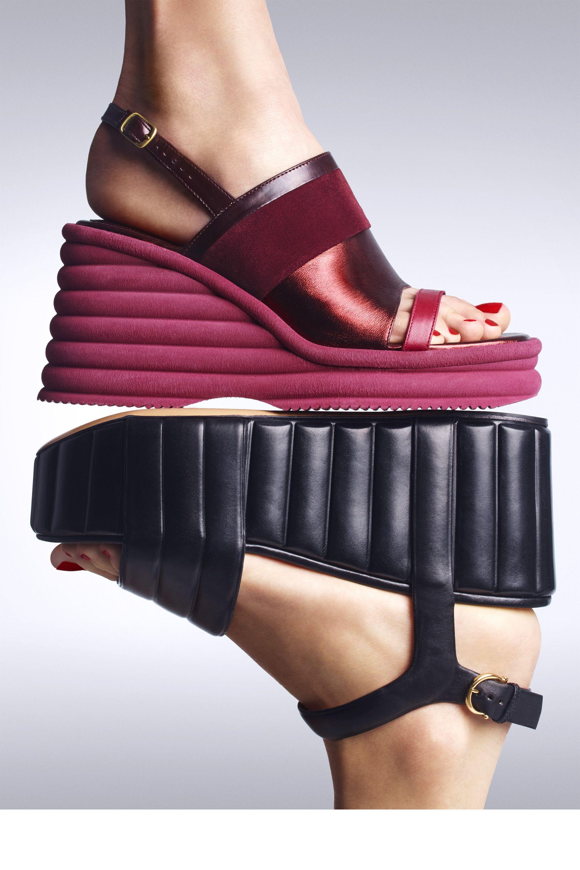 Dries Van Noten sandal, $895, Saks Fifth Avenue, 877-551-7257; Salvatore Ferragamo sandal, $1,190, shopBAZAAR.com.   - HarpersBAZAAR.com