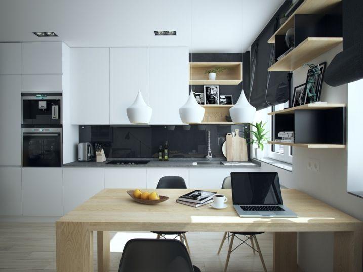 Aménager Et Décorer Un Appartement De Moins De 50M2   Cuisine Bois