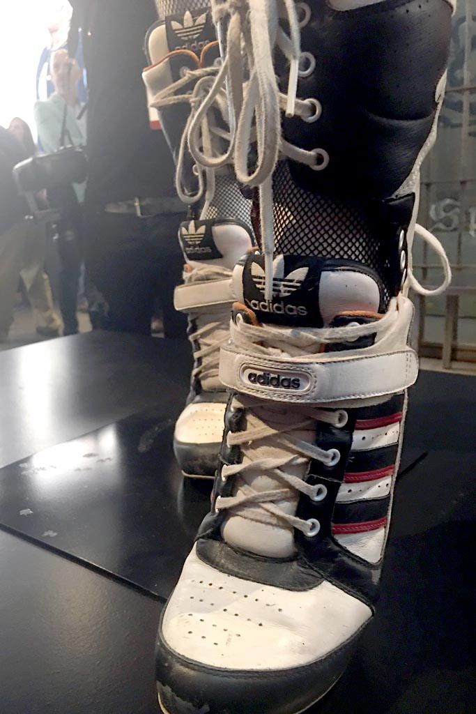 Margot Robbie's Jeremy Scott x Adidas Heeled Boots Unveiled At 'DC  Universe: The Exhibit'