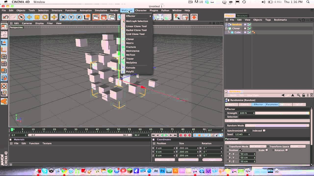 Cinema 4d Tut: Creating Random Cubes/Objects With Cloner