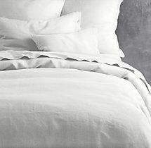 Garment-Dyed Textured Linen Duvet Cover -  you need a new Duvet  :)