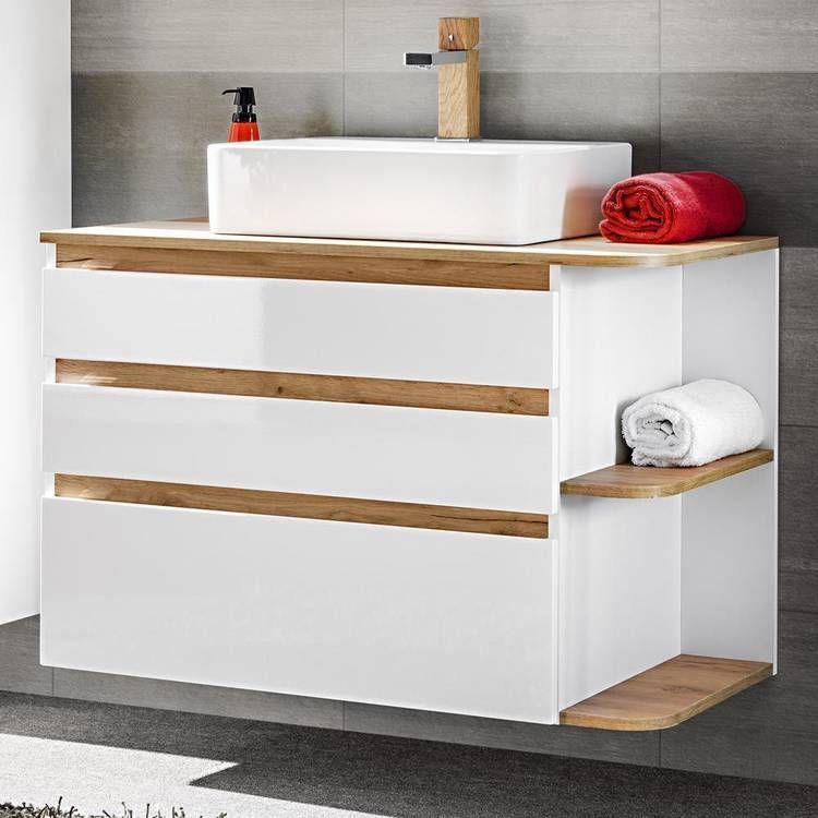 Badezimmermöbel Komplett Set mit KeramikWaschtisch CAMPOS